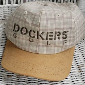 Dockers Golf Cotton Ball Cap Beige Plaid